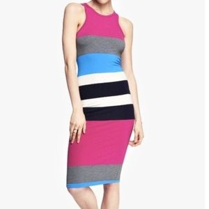 Express Color-blocked Midi Racerback Tank Dress